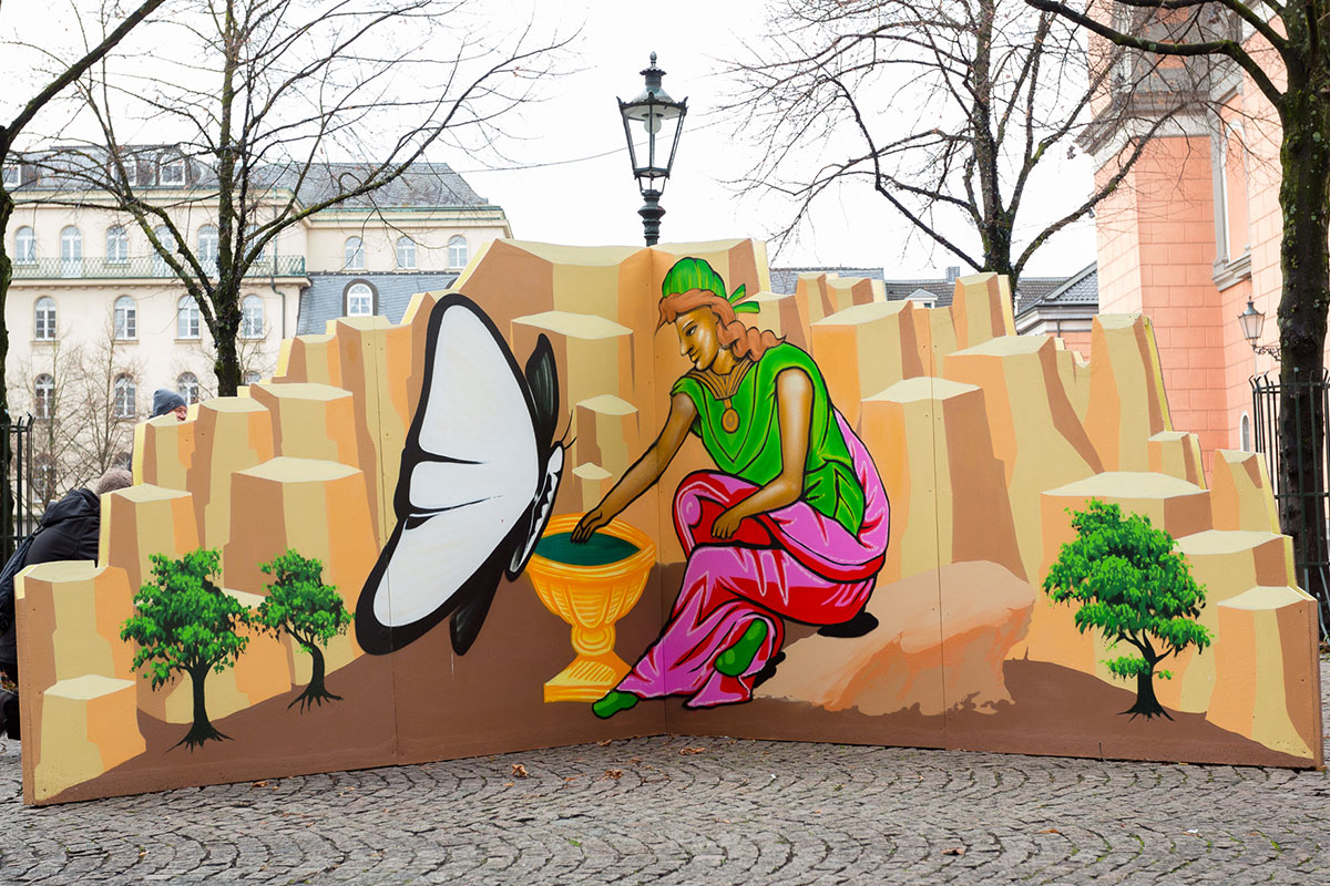 VerkündigunganMaria-Graffiti-Krippe-2016