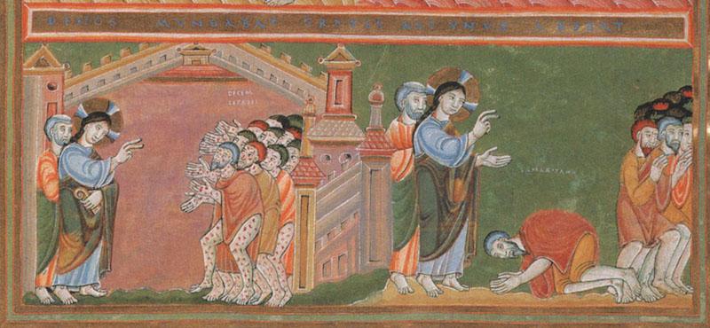 Heilung-der-zehn-Aussäztigen-Codex-Aureus-Epternacensis