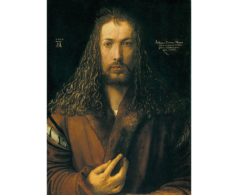 546px-Dürer_-_Selbstbildnis_im_Pelzrock_-_Alte_Pinakothek